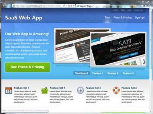 SaaS Template Site Screenshot